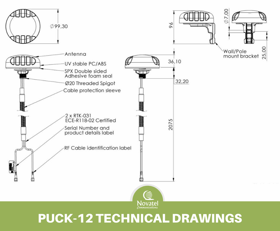 Reference Image: Poynting PUCK-12 Technical Drawing