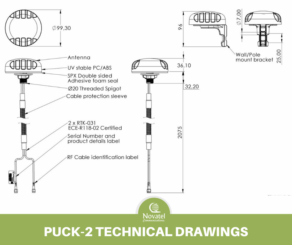Reference Image: Poynting PUCK-2 Technical Drawing