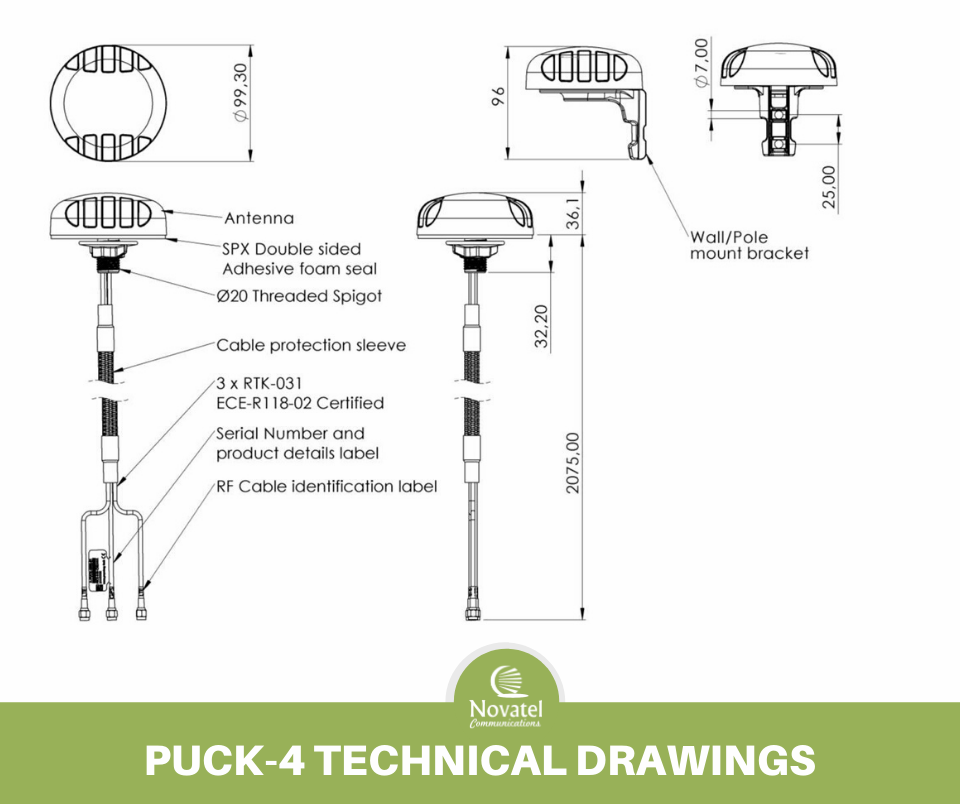 Reference Image: Poynting PUCK-4 Technical Drawing