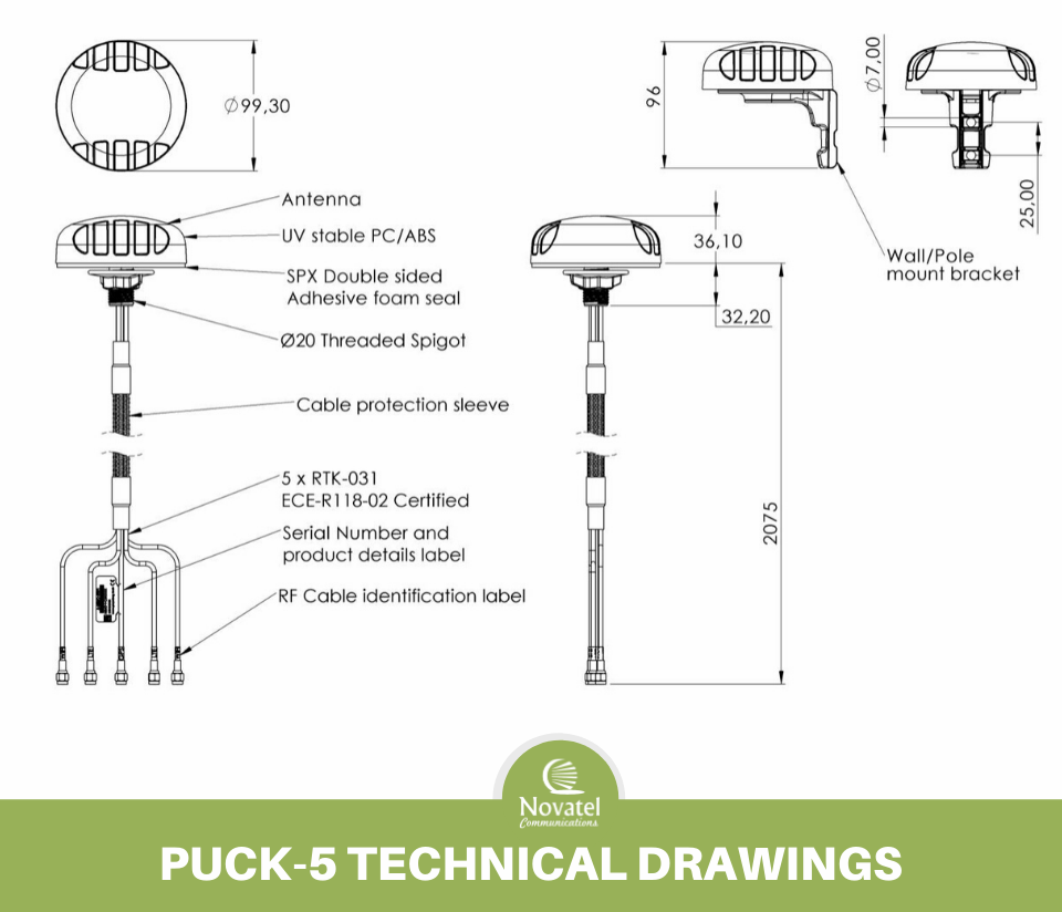Reference Image: Poynting PUCK-5 Technical Drawing