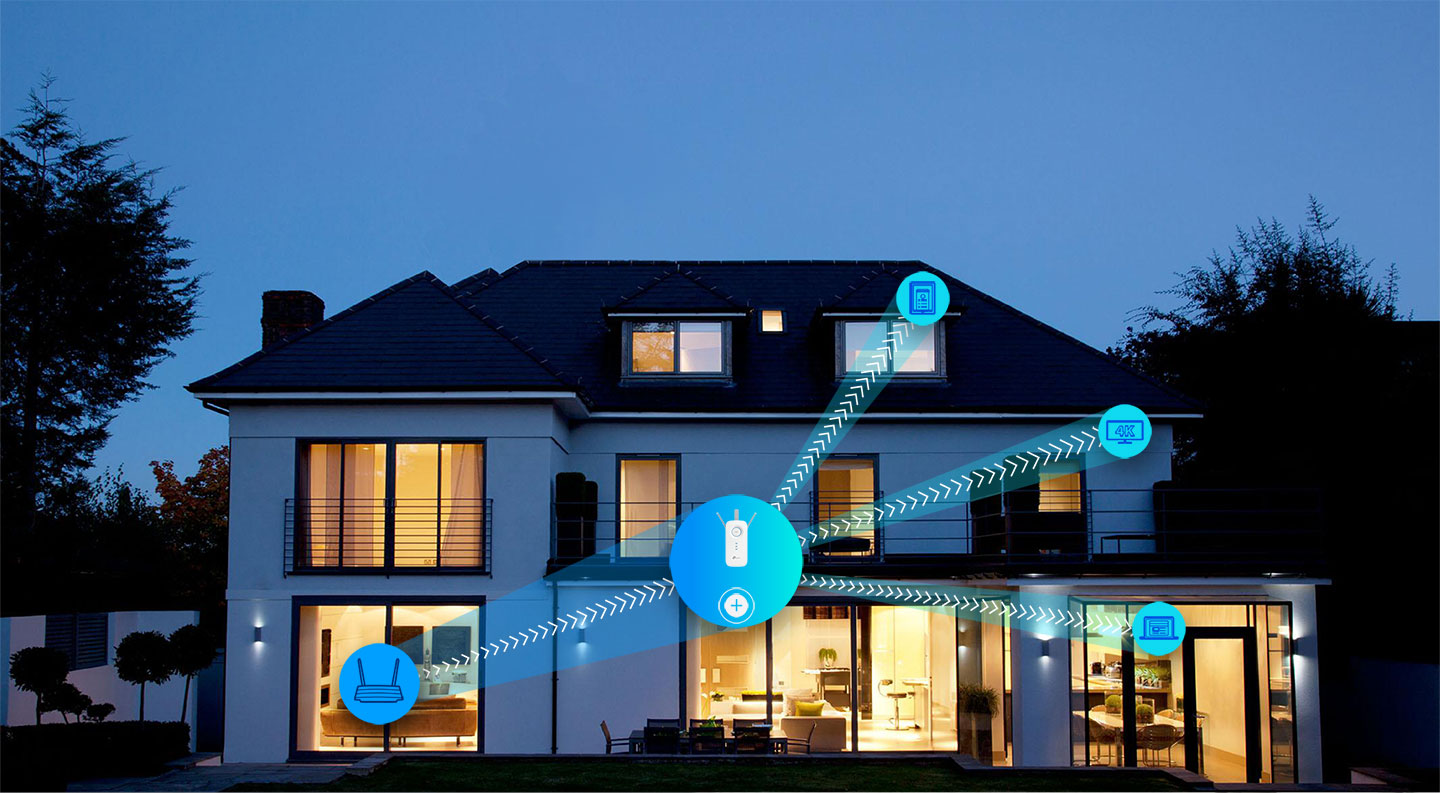 Reference Image: The RE450 Can Boost Your Wi-Fi Coverage Up to 10,000 square feet
